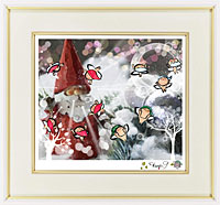サンタクロースと銀の珠玉に宿るヤドリギ