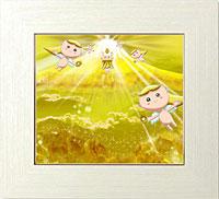 黄金色に輝く一粒の砂を創り出す黄金ダイヤモンド富士