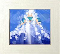 青富士に降り注ぐ天からの贈り物