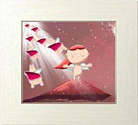 赤富士に降り注ぐ天からの贈り物