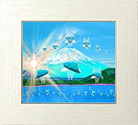 富士五湖の本栖湖から舞い上がる37人の天使たち