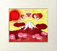 赤富士に降り注ぐ太陽の力