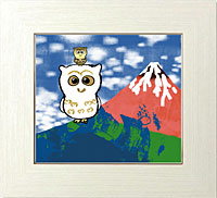 黄金白フクロウと赤富士