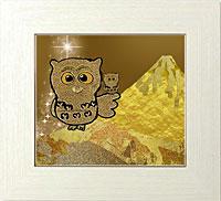 黄金フクロウと黄金富士