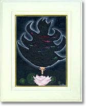 黒い炎と悟りの花