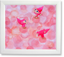 ピンク薔薇とつぼみ